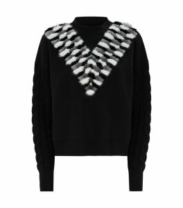 Wool-Cashmere Mink Fur Sweater
