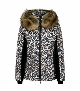 Leopard Print Holly Padded Down Jacket