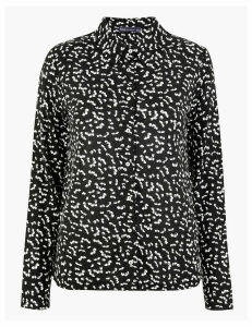 M&S Collection Floral Print Jersey Shirt