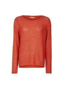 Womens Only Rust Fine Gauge Jumper - Red, Red