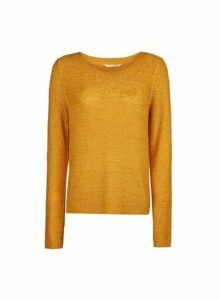 Womens **Only Yellow Fine Gauge Jumper, Yellow