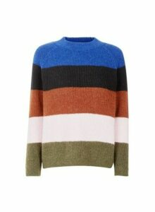 Womens **Only Blue Striped Jumper, Blue