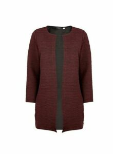 Womens Only Wine Longline Cardigan - Red, Red