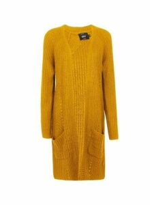 Womens **Only Yellow Knitted Cardigan, Yellow