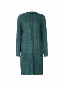 Womens **Only Green Knitted Cardigan- Green, Green