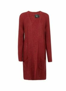 Womens **Only Merlot Knitted Cardigan, Merlot