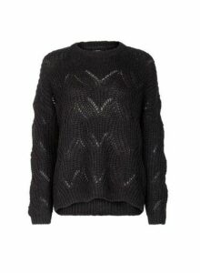 Womens **Only Black Knitted Jumper- Black, Black