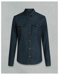 Belstaff Remmie Shirt Blue UK 8 /