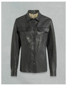 Belstaff MILA LEATHER SHIRT Black UK 8 /