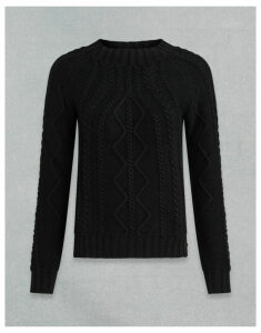 Belstaff SCOTTISH CABLE CREW NECK JUMPER Black