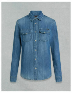 Belstaff REMMIE SHIRT Blue UK 4 /