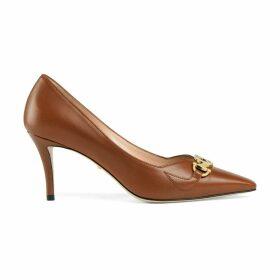 Gucci Zumi mid-heel leather pump