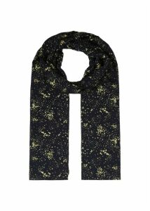 Laura Scarf Navy Gold