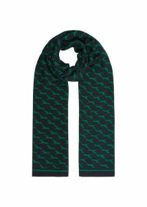 Horse Scarf Navy Green