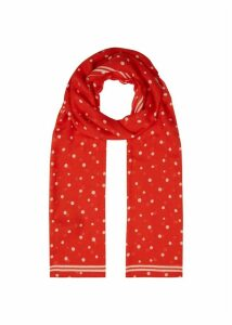 Amy Scarf Red Ivory