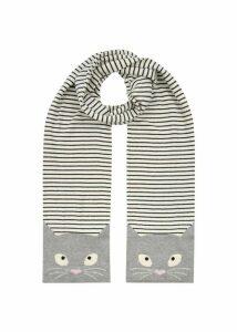 Sophie Cat Scarf Grey