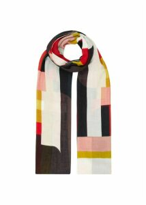 Gina Scarf Red Navy Multi