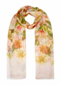 Dahlia Silk Scarf Pink