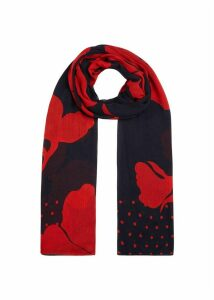 Delphine Scarf Navy Red