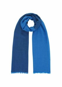 Evie Wool Scarf Blue