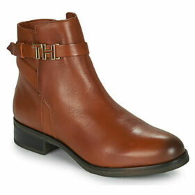 Tommy Hilfiger  TH HARDWARE LEATHER FLAT BOOTIE  women's Mid Boots in Brown