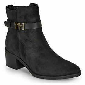 Tommy Hilfiger  TH HARDWARE SUEDE BOOTIE  women's Low Ankle Boots in Black