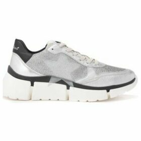 Nira Rubens  Stinger Running sneaker in lurex and silver-colored laminated  women's Running Trainers in Silver