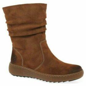 Rieker  Danish Womens Warm Lined Calf Length Boots  women's Snow boots in Brown