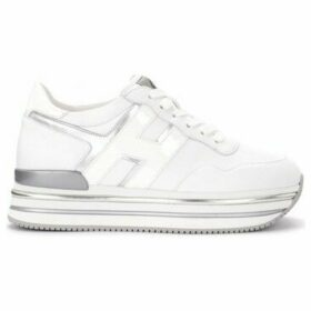 Hogan  H468 sneaker in white and silver leather  women's Shoes (Trainers) in White