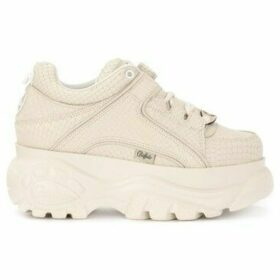 Buffalo  1339 sneaker in butter-colored leather with python effect print  women's Shoes (Trainers) in White