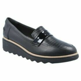 Clarks  Sharon Gracie Zapatos Mocasines de Mujer  women's Loafers / Casual Shoes in Black