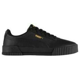 Puma  Carina Leather Trainers Ladies  women's Shoes (Trainers) in Black