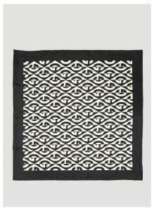 Gucci G Rhombus Print Silk Scarf in Black size One Size