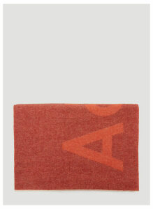 Acne Studios Toronty Logo Scarf in Orange size One Size