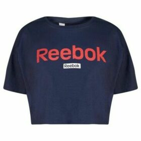 Reebok Sport  Linear Crop Top Ladies  women's Blouse in Blue