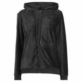 Rock And Rags  Velour Zip Thru Jacket Ladies  women's Sweatshirt in Black