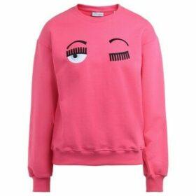 Chiara Ferragni  Chiara Ferragni sweatshirt in pink cotton with front flirting  women's Sweatshirt in Black