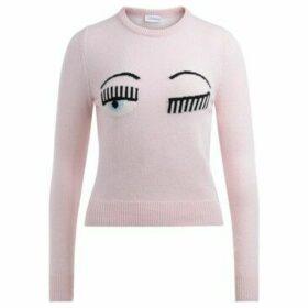 Chiara Ferragni  Chiara Ferragni sweater Flirting Eye in wool and pink cashmere  women's Sweater in Pink