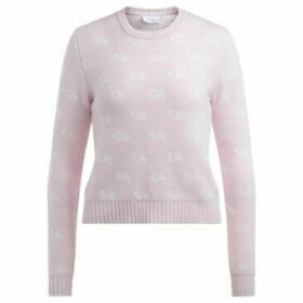 Chiara Ferragni  Chiara Ferragni sweater in pink merino wool with all over logo  women's Sweater in Other