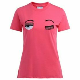 Chiara Ferragni  Chiara Ferragni T-shirt Flirting pink fluo with applied front  women's T shirt in Pink