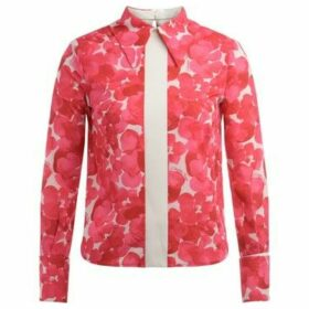 Elisabetta Franchi  tight-fitting shirt with fuchsia flower  women's Shirt in Other