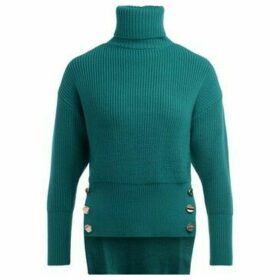 Elisabetta Franchi  turtleneck sweater in emerald green wool  women's Sweater in Green