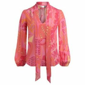 Rixo  shirt Moss model in PsuYhedelic print Fuchsia Butterfly  women's Blouse in Other