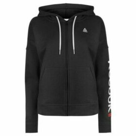 Reebok Sport  Linear Full Zip Hoodie Ladies  women's Sweatshirt in Black