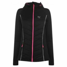 Training Zone  Quilted Zip Hoodie Ladies  women's Sweatshirt in Black
