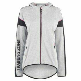 Training Zone  Batwing Hoodie Ladies  women's Sweatshirt in Grey
