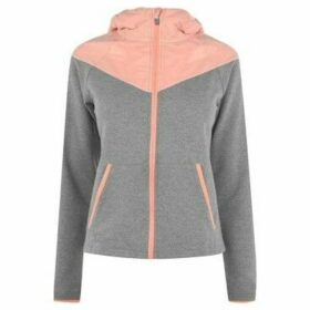 Training Zone  Contrast Zip Hoodie Ladies  women's Sweatshirt in Grey