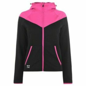 Training Zone  Contrast Zip Hoodie Ladies  women's Sweatshirt in Black