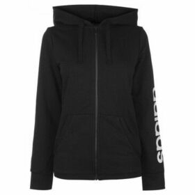 adidas  Full Zip Hoody Ladies  women's Sweatshirt in Black
