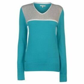 adidas  V Neck Golf Sweater Ladies  women's Sweater in Blue